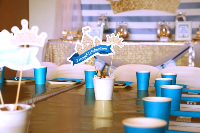 Tablescape from a Royal Celebration Birthday Party on Kara's Party Ideas | KarasPartyIdeas.com (17)