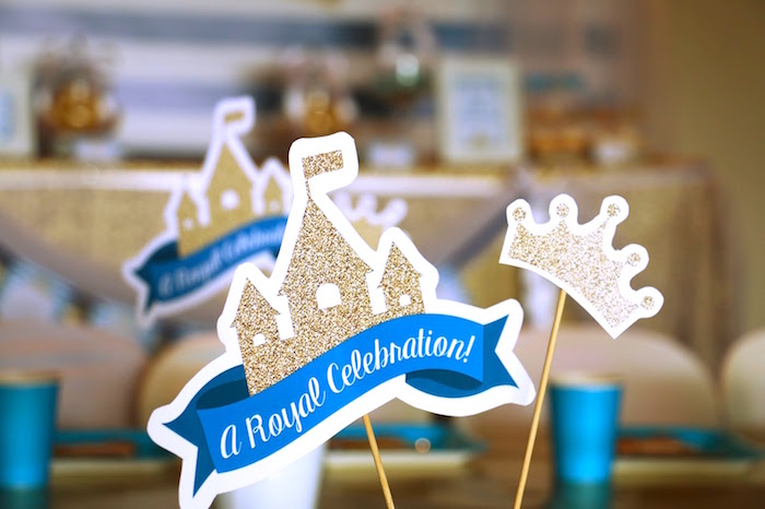 Castle & crown stationery sticks from a Royal Celebration Birthday Party on Kara's Party Ideas | KarasPartyIdeas.com (28)