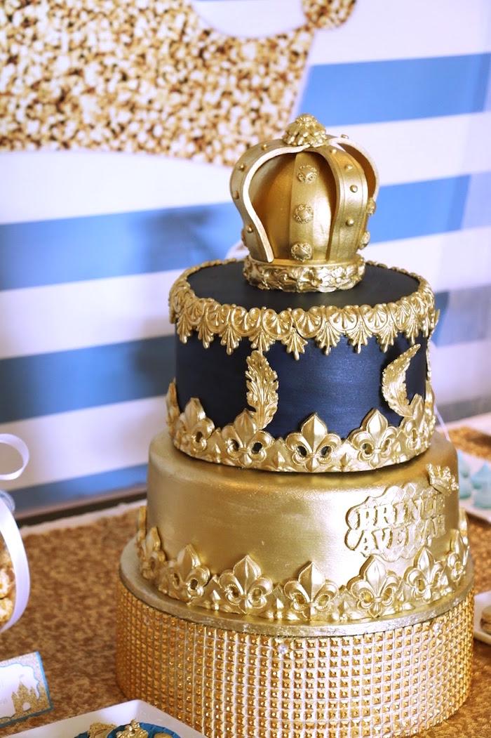 Royal Beautiful Birthday Cake