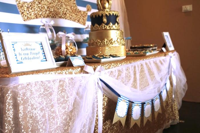 Royal Celebration Birthday Party on Kara's Party Ideas   KarasPartyIdeas.com (8)