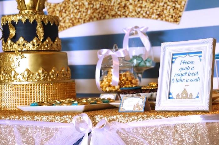 Royal Treat Sign From A Celebration Birthday Party On Karas Ideas