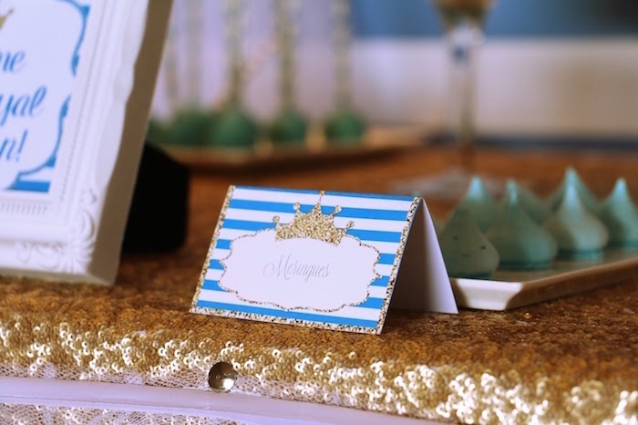 Tent card label from a Royal Celebration Birthday Party on Kara's Party Ideas | KarasPartyIdeas.com (22)