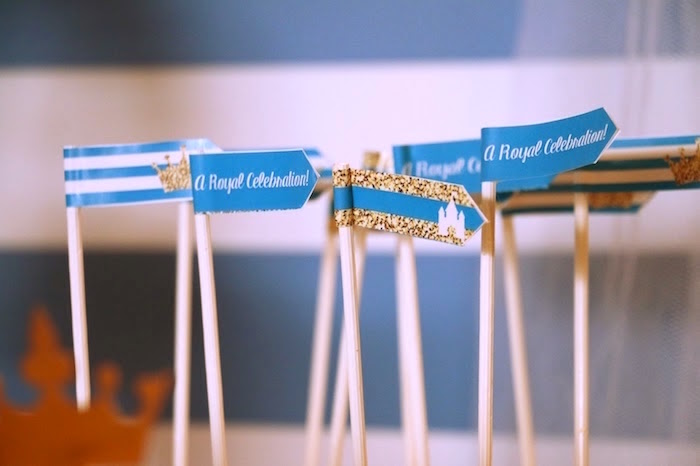 Sticks with flags from a Royal Celebration Birthday Party on Kara's Party Ideas | KarasPartyIdeas.com (21)