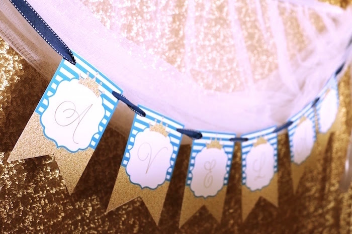 Banner from a Royal Celebration Birthday Party on Kara's Party Ideas | KarasPartyIdeas.com (20)