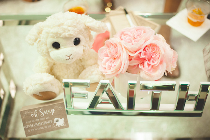 Decor from a Rustic Little Lamb Baby Shower on Kara's Party Ideas | KarasPartyIdeas.com (11)