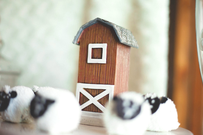 Barn prop from a Rustic Little Lamb Baby Shower on Kara's Party Ideas | KarasPartyIdeas.com (10)