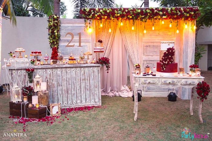 Rustic Vintage 21st Birthday Party On Karas Ideas