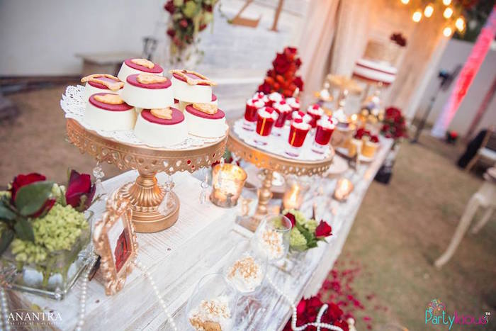 Sweet table from a Rustic Vintage 21st Birthday Party on Kara's Party Ideas | KarasPartyIdeas.com (34)