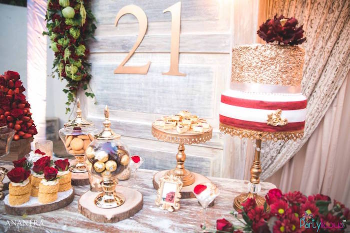 21st Birthday Party Ideas.Kara S Party Ideas Rustic Vintage 21st Birthday Party