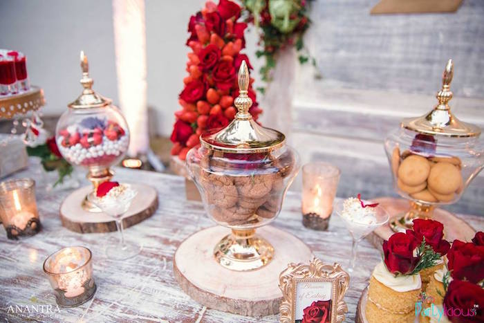 Dessert spread from a Rustic Vintage 21st Birthday Party on Kara's Party Ideas | KarasPartyIdeas.com (26)
