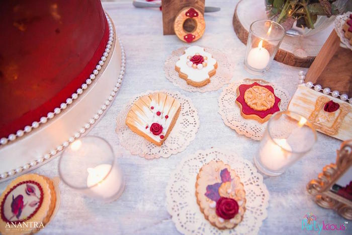 Cookies placed on white doilies from a Rustic Vintage 21st Birthday Party on Kara's Party Ideas | KarasPartyIdeas.com (23)