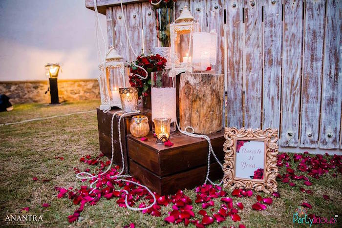 Kara S Party Ideas Rustic Vintage 21st Birthday Party