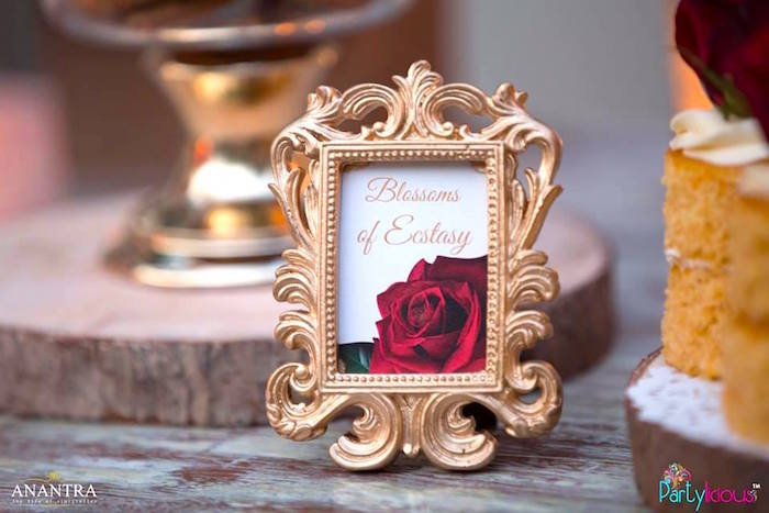 Rose print from a Rustic Vintage 21st Birthday Party on Kara's Party Ideas | KarasPartyIdeas.com (9)