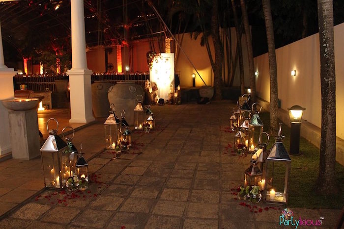 Candlelit walkway from a Rustic Vintage 21st Birthday Party on Kara's Party Ideas | KarasPartyIdeas.com (45)
