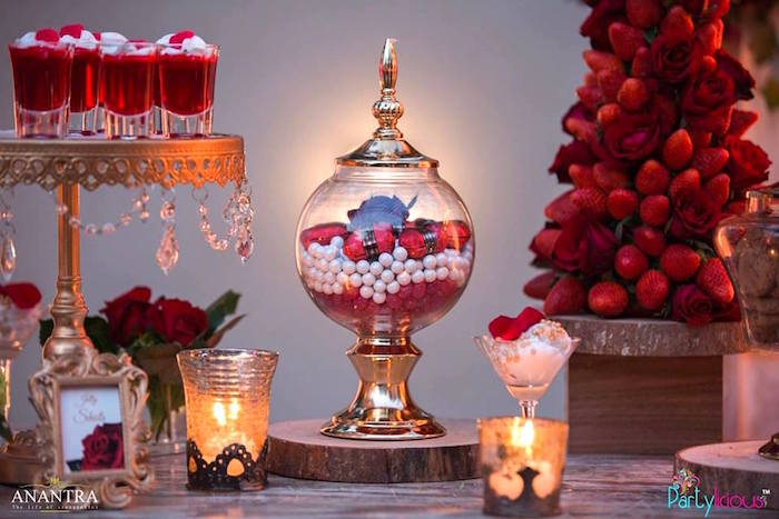 Candlelit dessert spread from a Rustic Vintage 21st Birthday Party on Kara's Party Ideas | KarasPartyIdeas.com (44)
