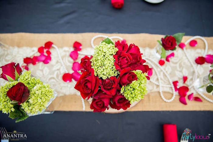 Party tabletop from a Rustic Vintage 21st Birthday Party on Kara's Party Ideas | KarasPartyIdeas.com (41)