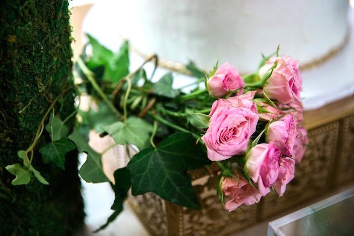 Stemmed roses from a Secret Garden Birthday Party on Kara's Party Ideas | KarasPartyIdeas.com (13)