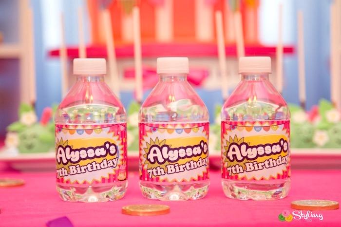Custom water bottles from a Shopkins Birthday Party on Kara's Party Ideas | KarasPartyIdeas.com (14)