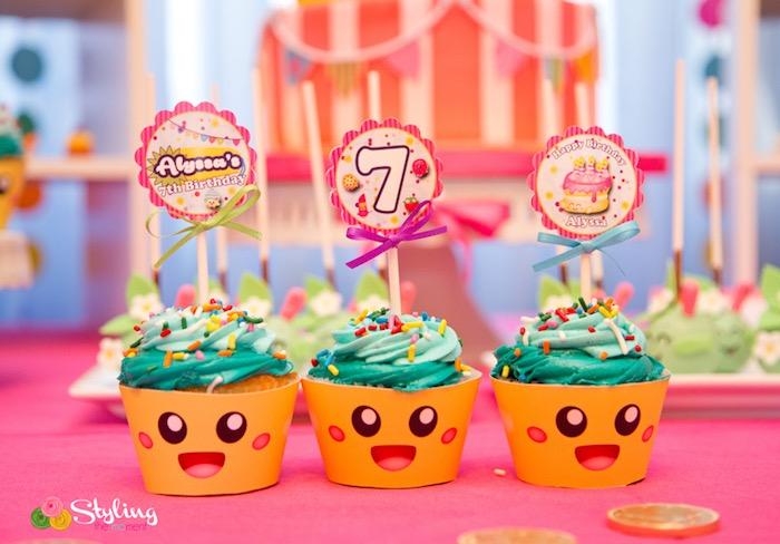 Shopkins cupcakes from a Shopkins Birthday Party on Kara's Party Ideas | KarasPartyIdeas.com (12)