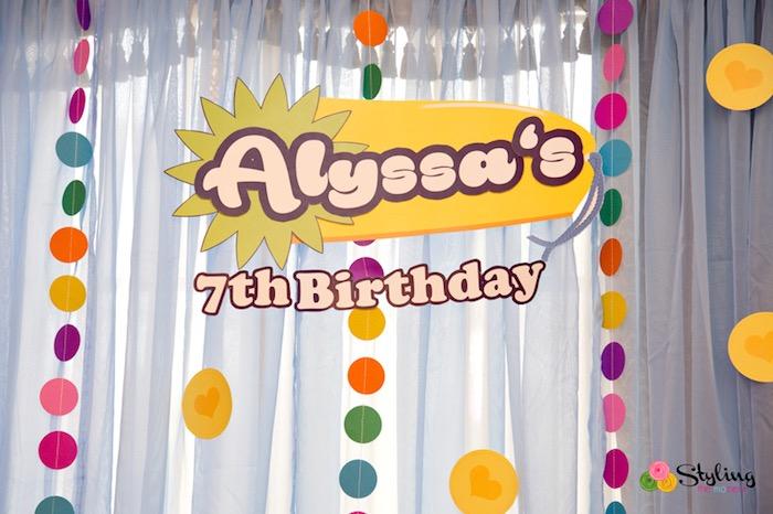 Shopkins banner + circle garland bunting from a Shopkins Birthday Party on Kara's Party Ideas | KarasPartyIdeas.com (31)