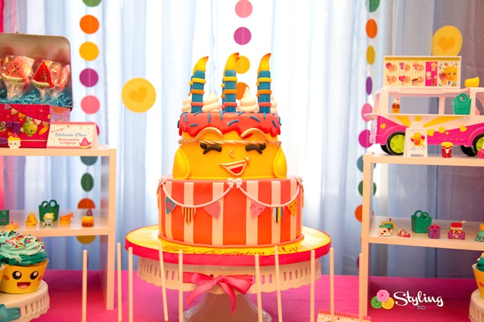 Shopkins - Wishes Birthday Cake from a Shopkins Birthday Party on Kara's Party Ideas | KarasPartyIdeas.com (30)