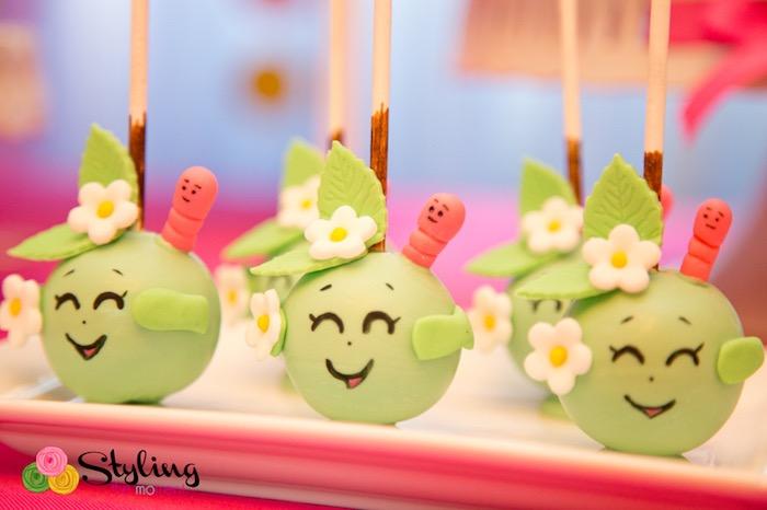 Apple Blossom cake pops from a Shopkins Birthday Party on Kara's Party Ideas | KarasPartyIdeas.com (26)