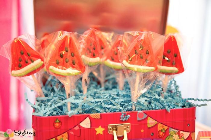 Melonie Lips (watermelon lollipops) from a Shopkins Birthday Party on Kara's Party Ideas | KarasPartyIdeas.com (24)