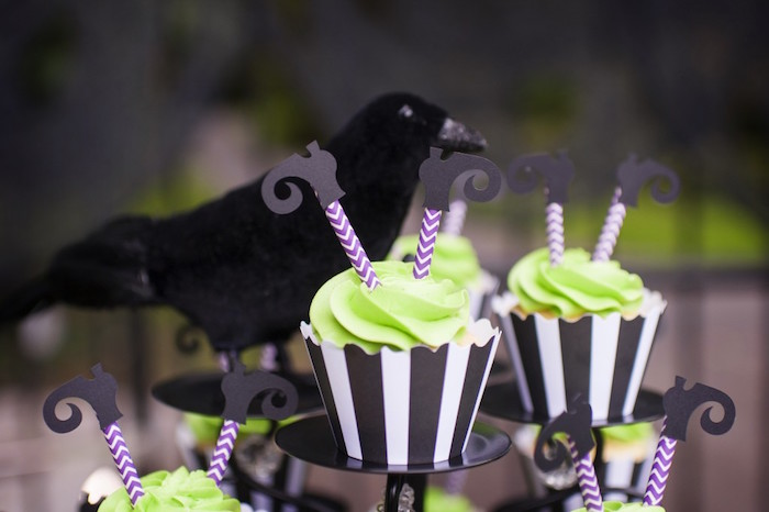 Cupcakes with Witch Feet Toppers from a Spooktacular Halloween Party via Kara's Party Ideas | KarasPartyIdeas.com (33)