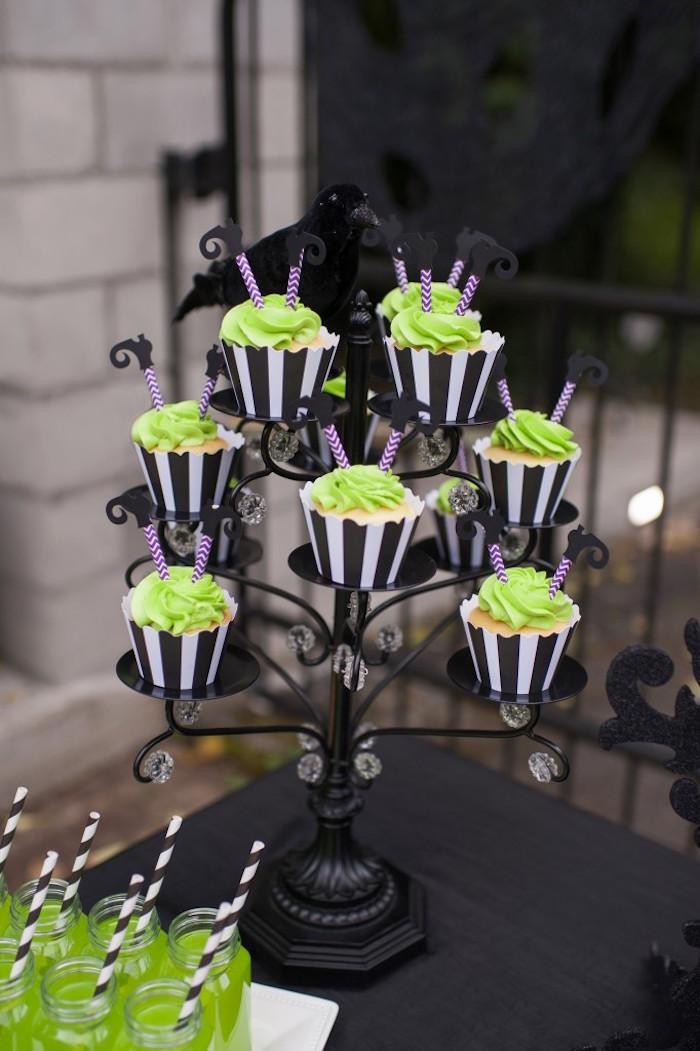 Witch cupcakes from a Spooktacular Halloween Party via Kara's Party Ideas | KarasPartyIdeas.com (21)