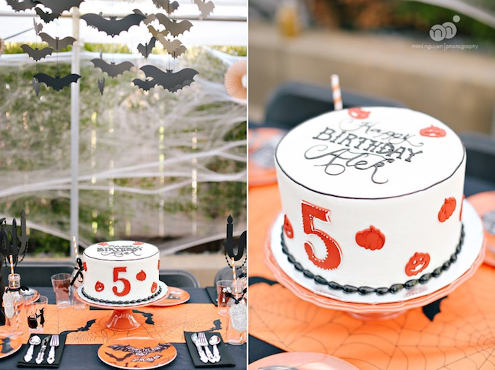 halloween birthday cake from a spooky halloween inspired birthday party on karas party ideas karaspartyideas - Halloween Birthday Party Ideas