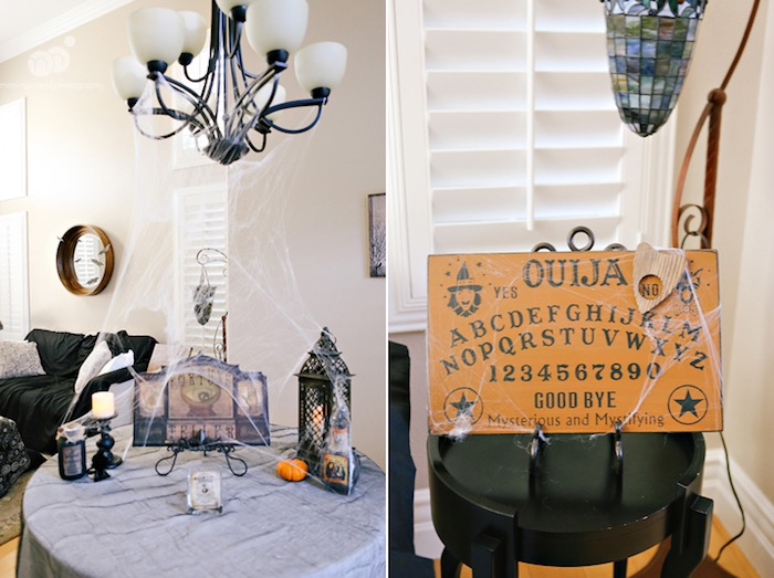 Guest table + party decor from a Spooky Halloween Inspired Birthday Party on Kara's Party Ideas | KarasPartyIdeas.com (16)