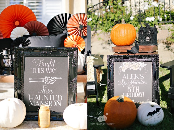 Signs + signage from a Spooky Halloween Inspired Birthday Party on Kara's Party Ideas | KarasPartyIdeas.com (30)