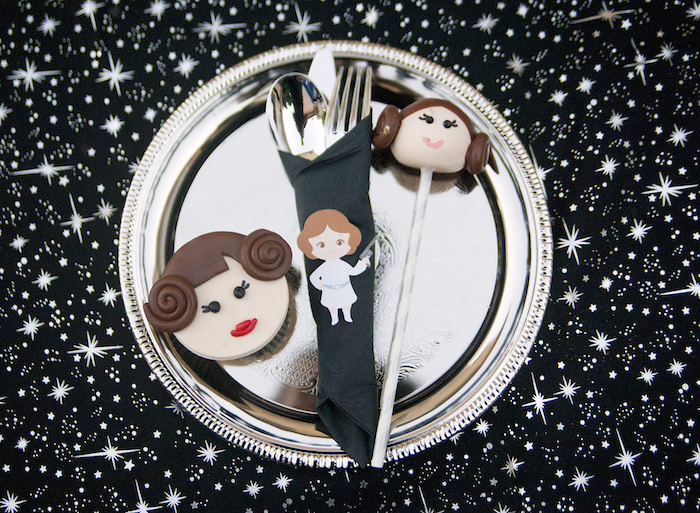 Place setting + cookies from a Star Wars Birthday Party on Kara's Party Ideas | KarasPartyIdeas.com (28)