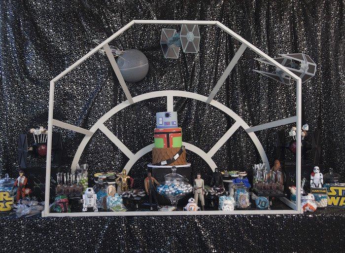 Millennium Falcon dessert table from a Star Wars Birthday Party on Kara's Party Ideas | KarasPartyIdeas.com (18)