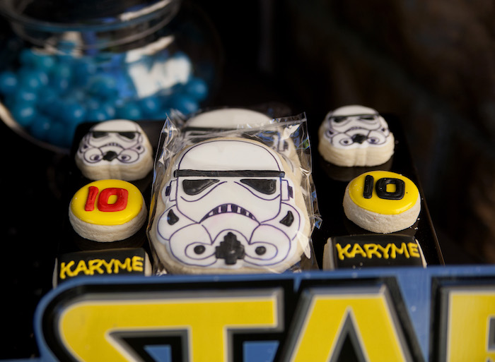 Storm Trooper cookies from a Star Wars Birthday Party on Kara's Party Ideas | KarasPartyIdeas.com (17)