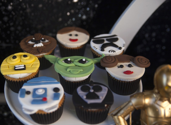 Star Wars cupcakes from a Star Wars Birthday Party on Kara's Party Ideas | KarasPartyIdeas.com (16)