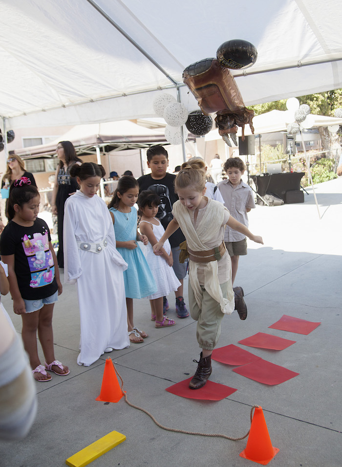 Jedi training games from a Star Wars Birthday Party on Kara's Party Ideas | KarasPartyIdeas.com (12)