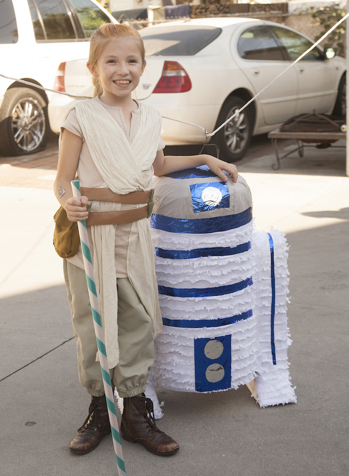 R2D2 pinata from a Star Wars Birthday Party on Kara's Party Ideas | KarasPartyIdeas.com (10)