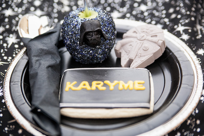 Place setting + decor from a Star Wars Birthday Party on Kara's Party Ideas | KarasPartyIdeas.com (35)
