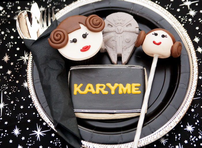 Princess Leia cookies & cake pops from a Star Wars Birthday Party on Kara's Party Ideas | KarasPartyIdeas.com (34)