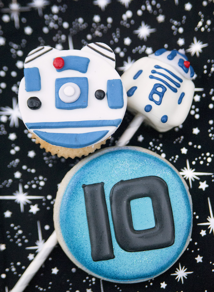 Cookies and cake pop from a Star Wars Birthday Party on Kara's Party Ideas | KarasPartyIdeas.com (33)