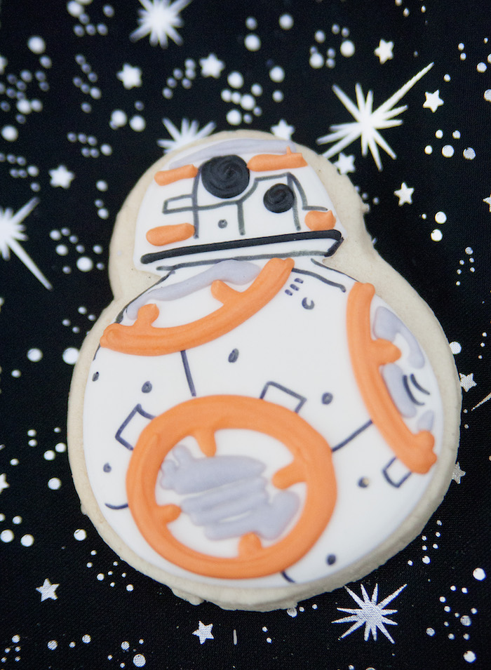 Droid cookie from a Star Wars Birthday Party on Kara's Party Ideas | KarasPartyIdeas.com (30)