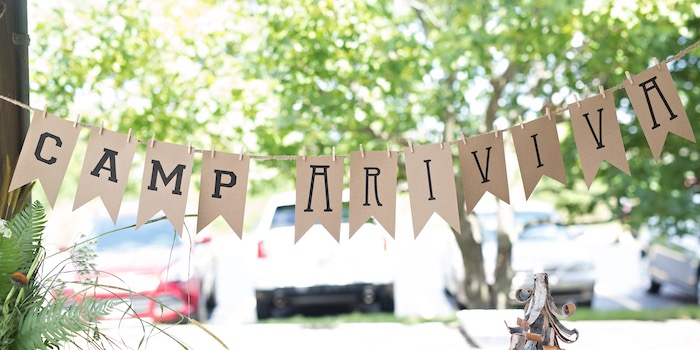 Banner from a Summer Camp + Camping Birthday Party on Kara's Party Ideas | KarasPartyIdeas.com (32)