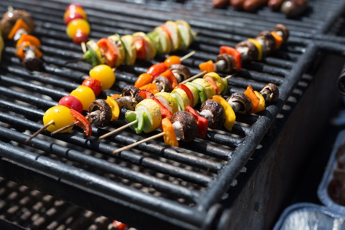 Shish kabob from a Summer Camp + Camping Birthday Party on Kara's Party Ideas | KarasPartyIdeas.com (31)