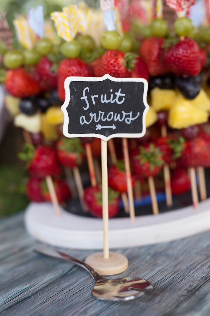 Fruit arrows from a Summer Camp + Camping Birthday Party on Kara's Party Ideas | KarasPartyIdeas.com (26)