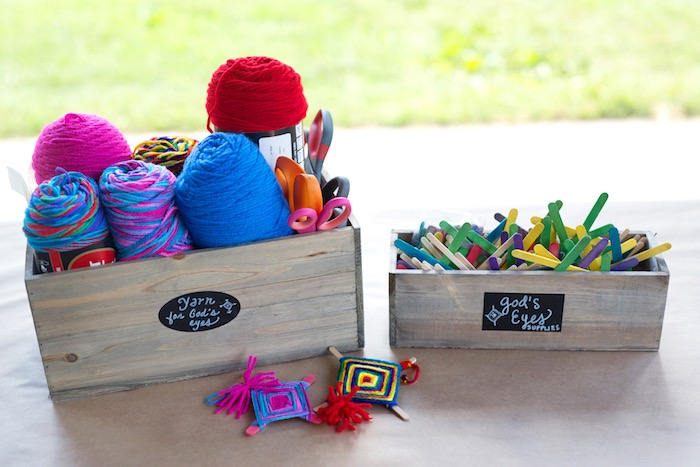 Yarn activity from a Summer Camp + Camping Birthday Party on Kara's Party Ideas | KarasPartyIdeas.com (23)