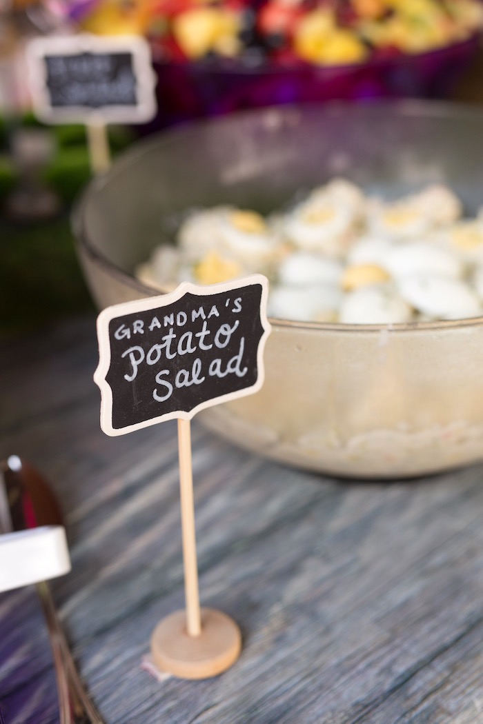 Chalkboard fool label from a Summer Camp + Camping Birthday Party on Kara's Party Ideas | KarasPartyIdeas.com (12)
