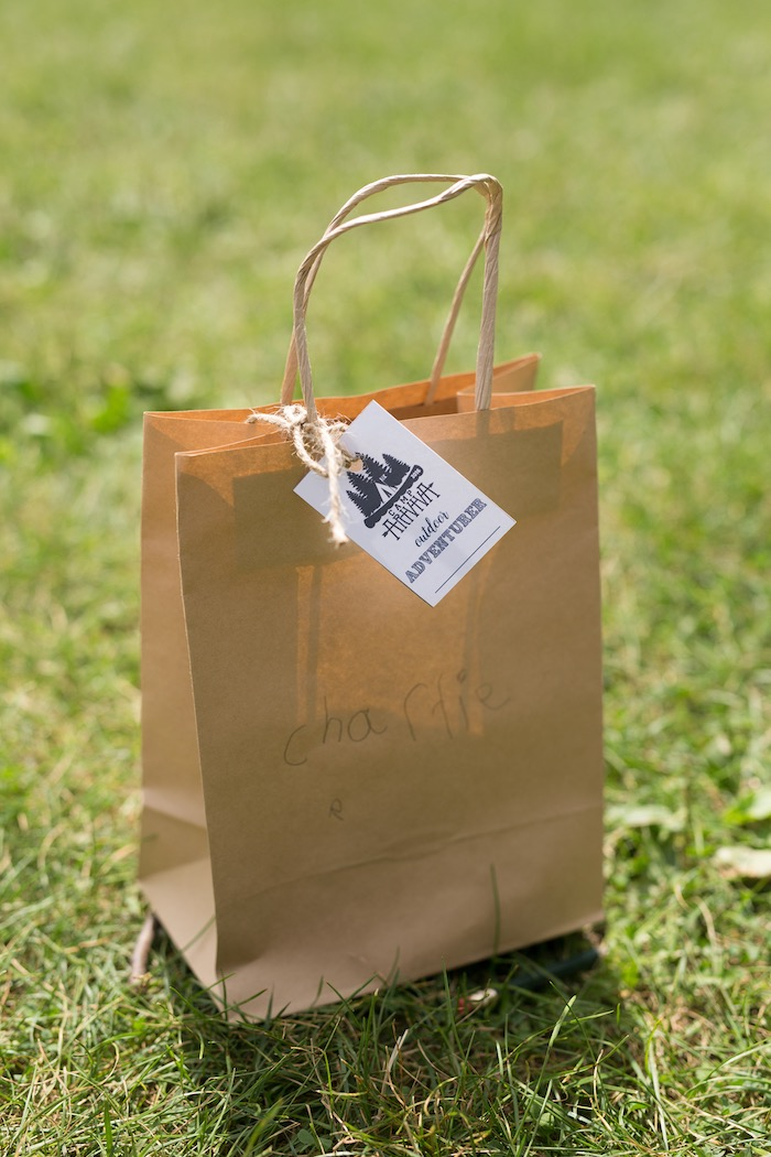 Favor bag from a Summer Camp + Camping Birthday Party on Kara's Party Ideas | KarasPartyIdeas.com (11)