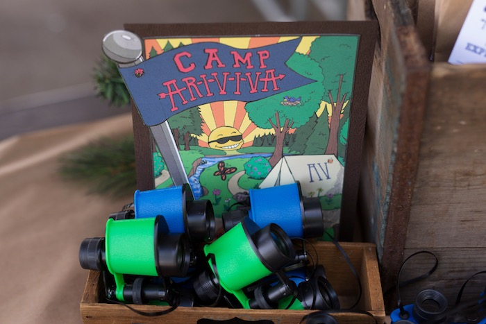 Party sign from a Summer Camp + Camping Birthday Party on Kara's Party Ideas | KarasPartyIdeas.com (40)