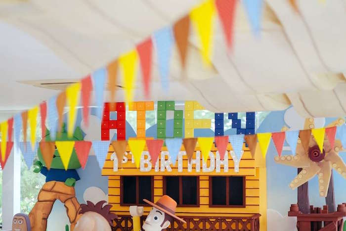 Banners + bunting from a Toy Story Birthday Party on Kara's Party Ideas | KarasPartyIdeas.com (18)